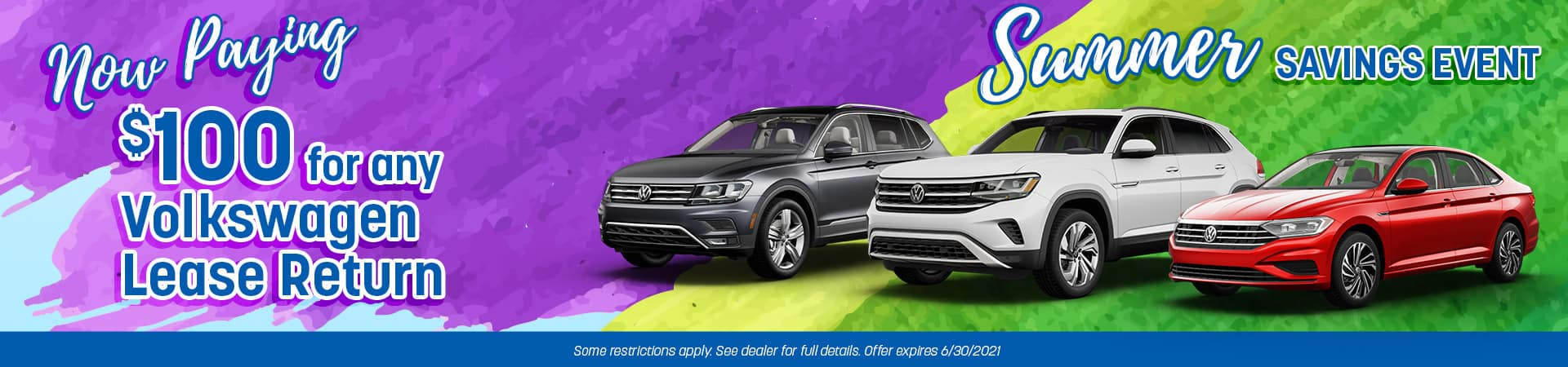 $100 Lease Return Bonus   Joseph VW   Cincinnati, OH