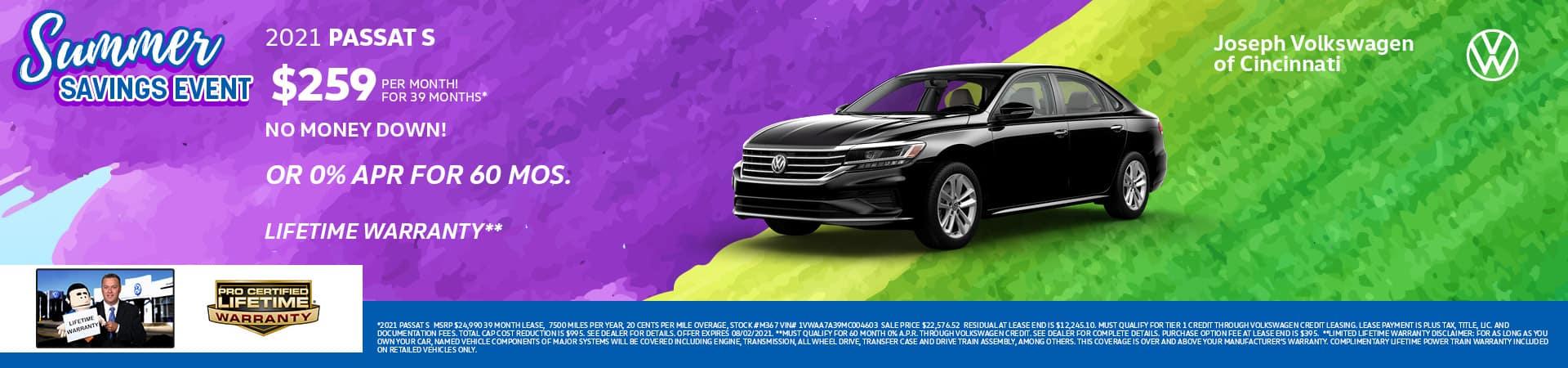 2021 Volkswagen Passat | Joseph VW | Cincinnati, OH