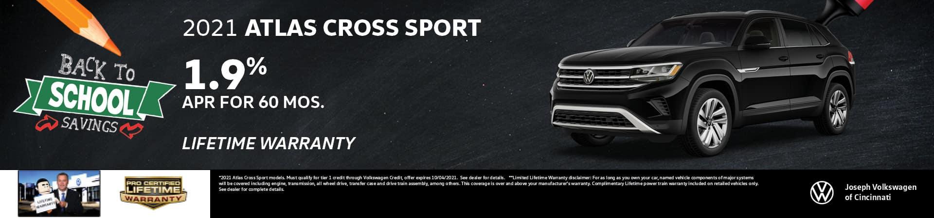 2021 Volkswagen Atlas Cross Sport 1.9% APR   Joseph Volkswagen   Cincinnati, OH