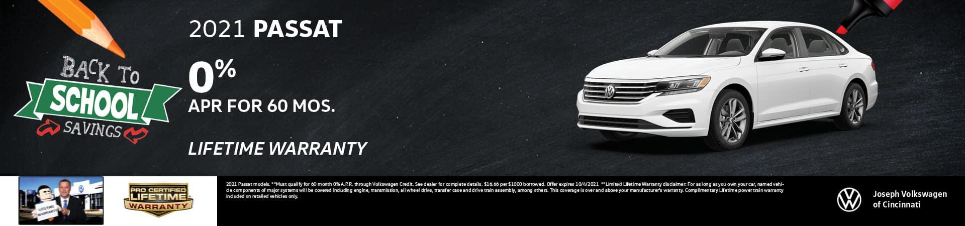 2021 Volkswagen Passat 0% APR   Joseph Volkswagen   Cincinnati, OH