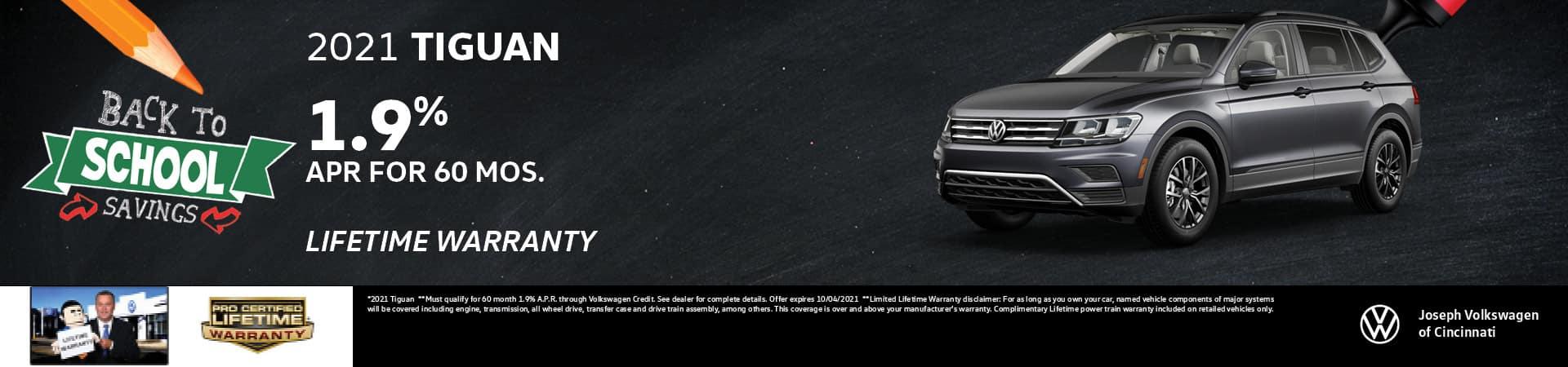 2021 Volkswagen Tiguan 1.9% APR   Joseph Volkswagen   Cincinnati, OH