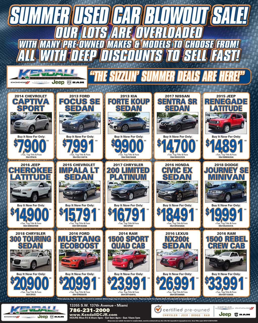Chrysler, Dodge, Jeep, Ram Weekly Ads - Doral | Kendall Dodge ...