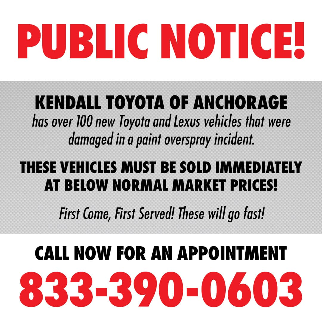 Kendall Toyota Oversrpay Sale