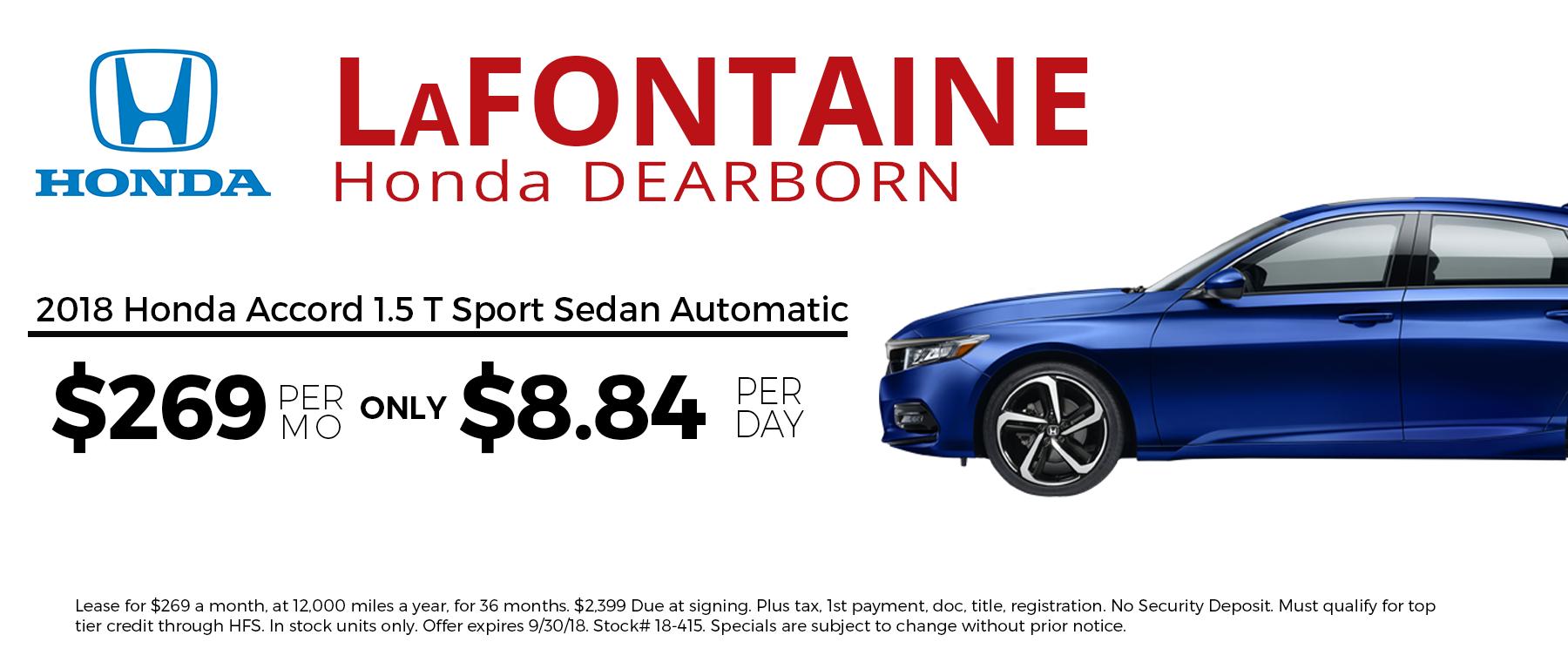 2018 Honda Accord 1.5 T Sport
