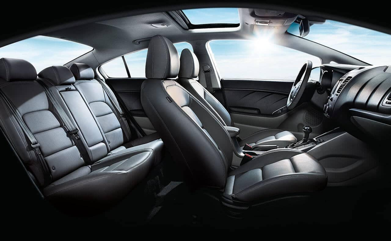 interior cabin of 2018 Kia Forte
