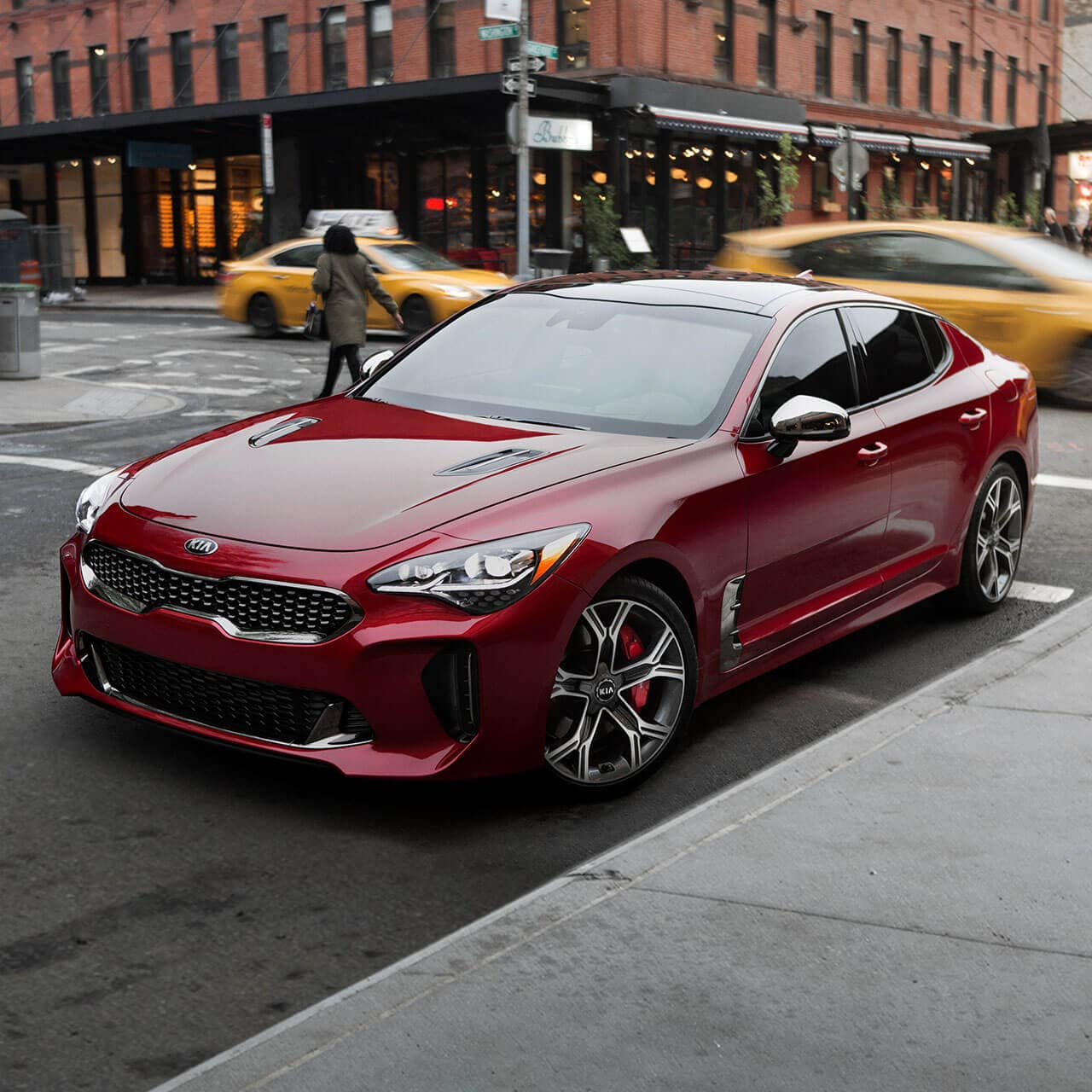 2018 Kia Stinger parked on city street