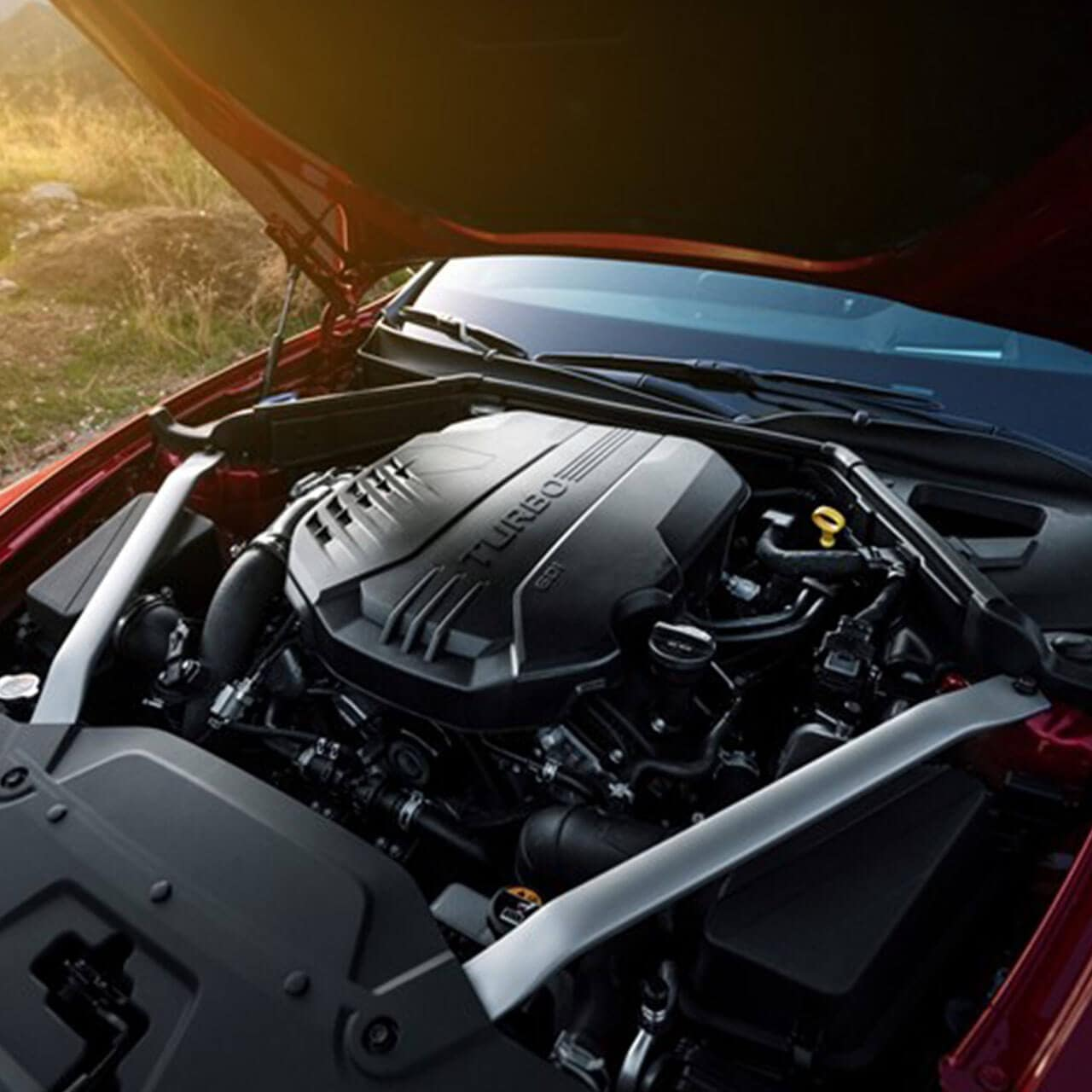 engine of 2018 Kia Stinger