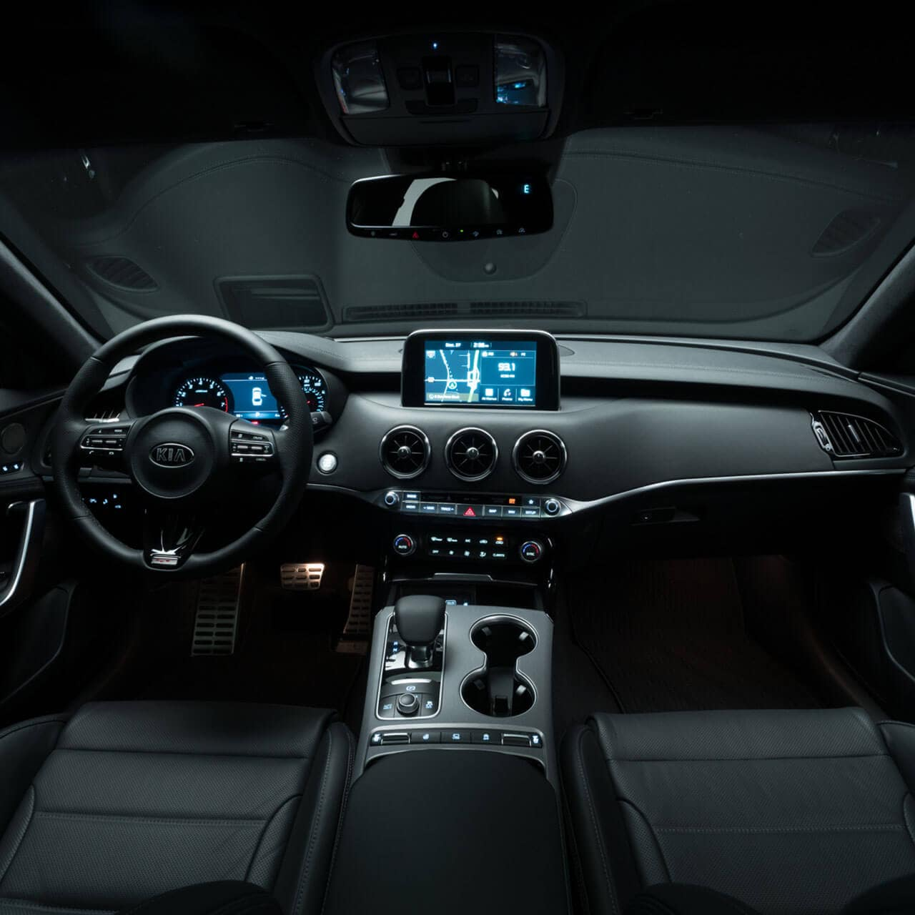 interior of 2018 Kia Stinger