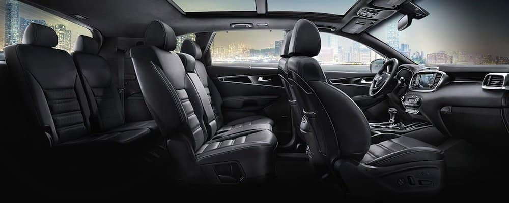 2019 sorento full interior side view