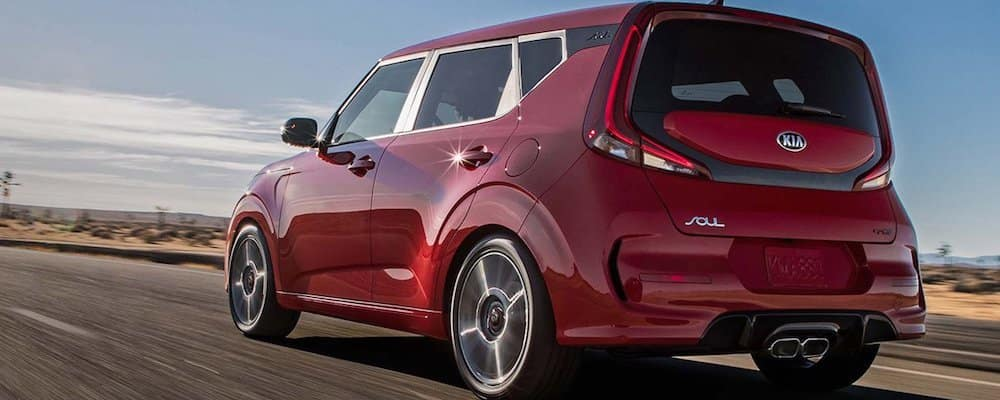 2020 Kia Soul Driving on Highway