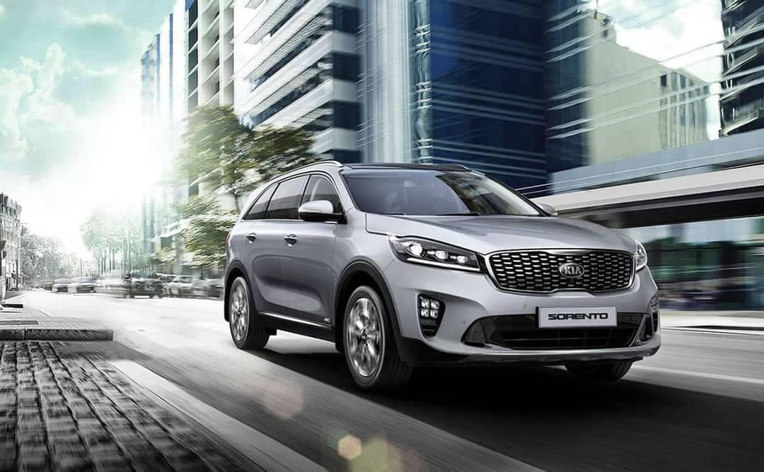 2019 Kia Sorento in the city