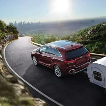 2019 Kia Sorento towing small trailer