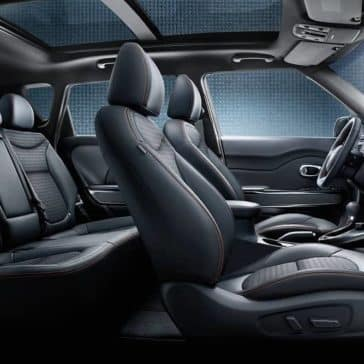 2019 Kia Soul in interior cabin with panoramic roof