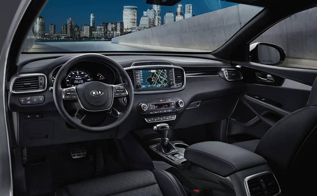 interior of 2019 Kia Sorento