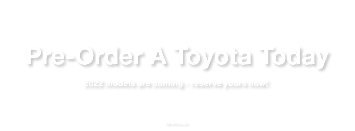Pre-Order A Toyota near Baxter,MN at Lake Country Toyota