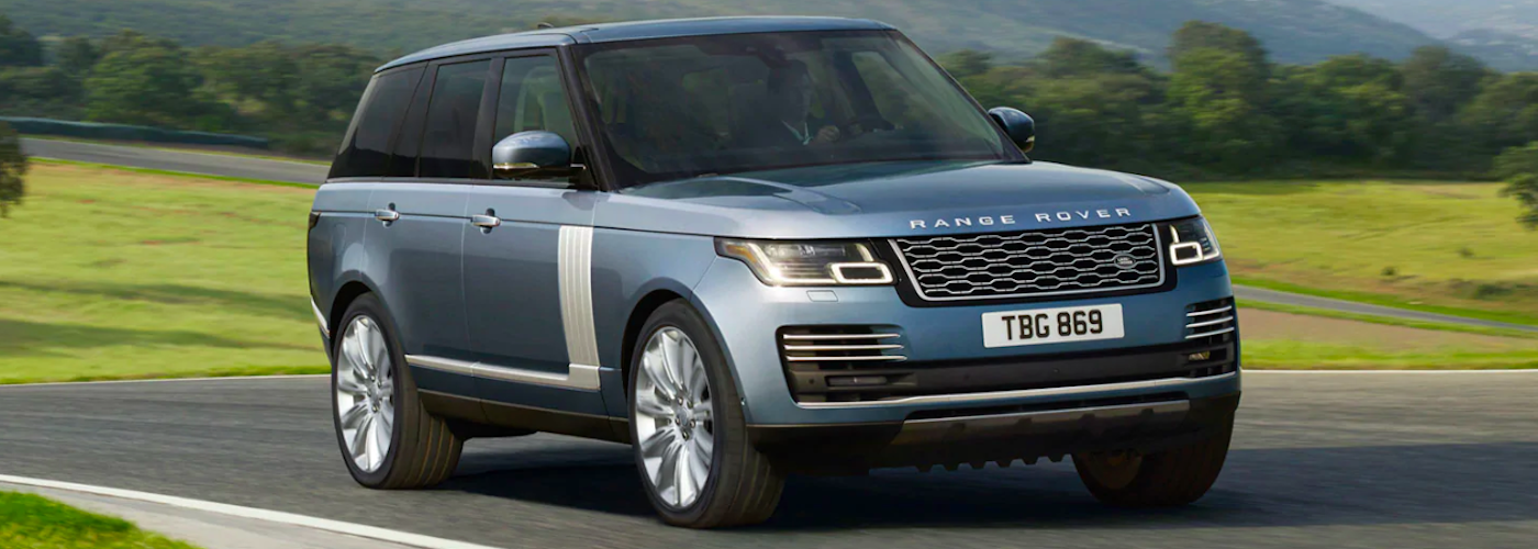 2019 land rover range rover driving on road