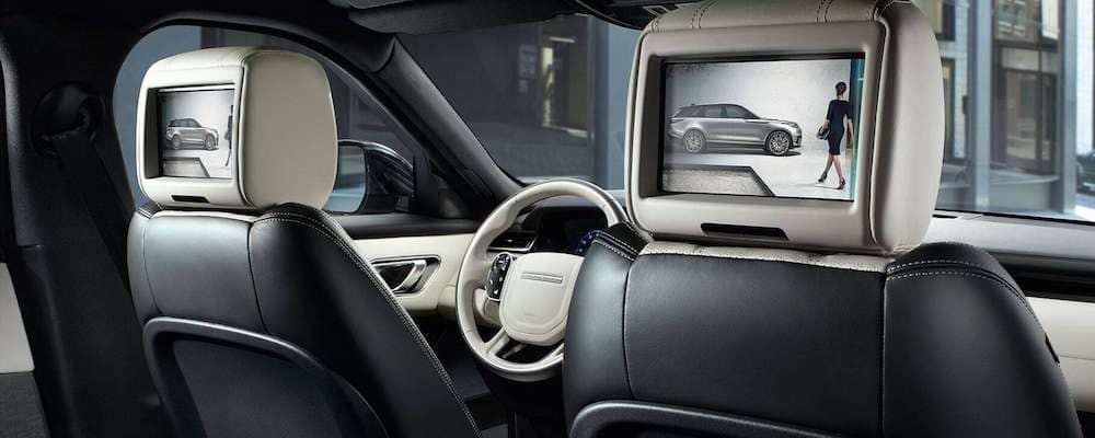 2019 Range Rover Velar with Light Oyster and Ebony interior with Rear Seat Entertainment System