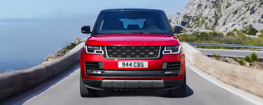 2020 land rover range rover red exterior front view