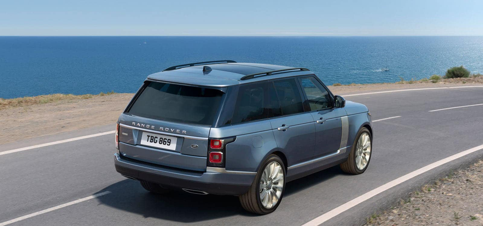 2020 Land Rover driving on road