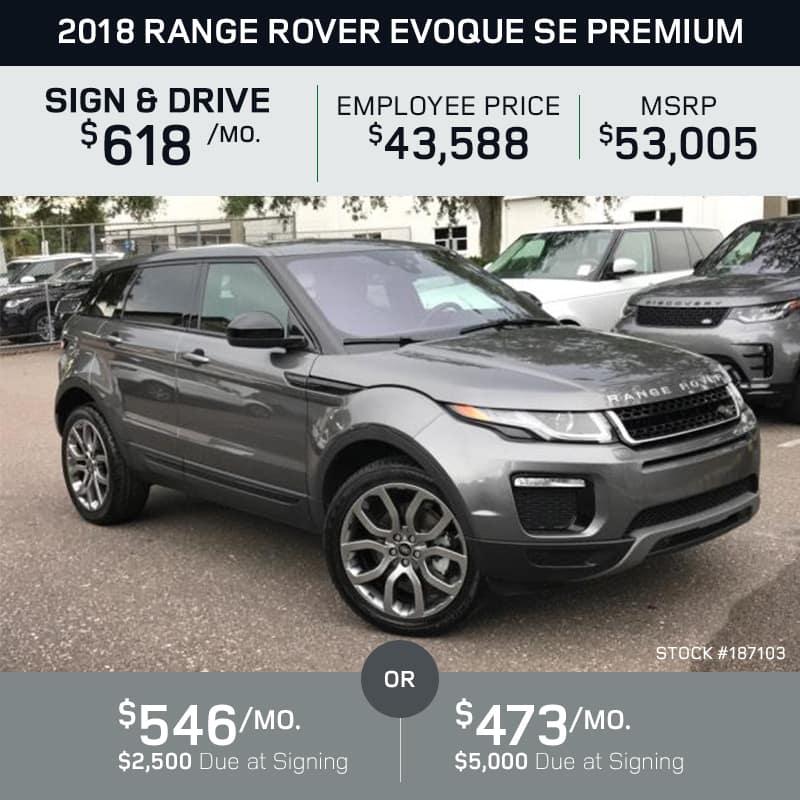 2018 Range Rover Evoque SE Premium