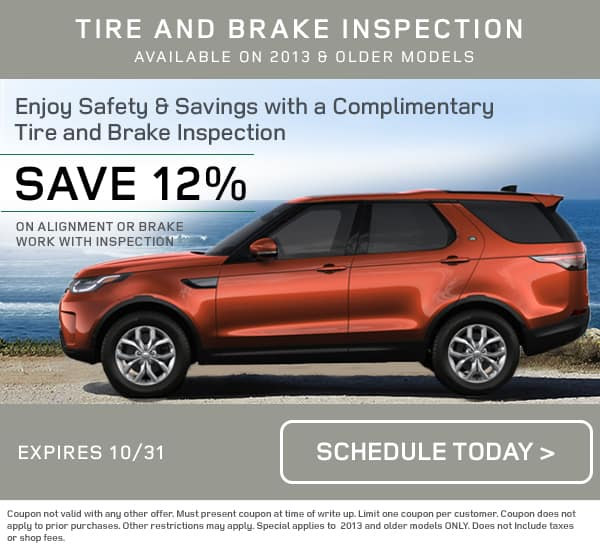 Land Rover Tire and Brake Inspection