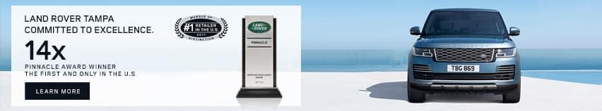 Land Rover Pinnacle Award