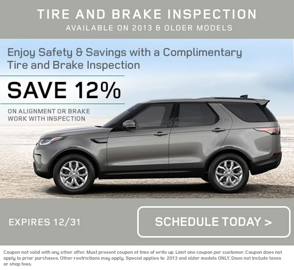 December Land Rover Tire Brake Special