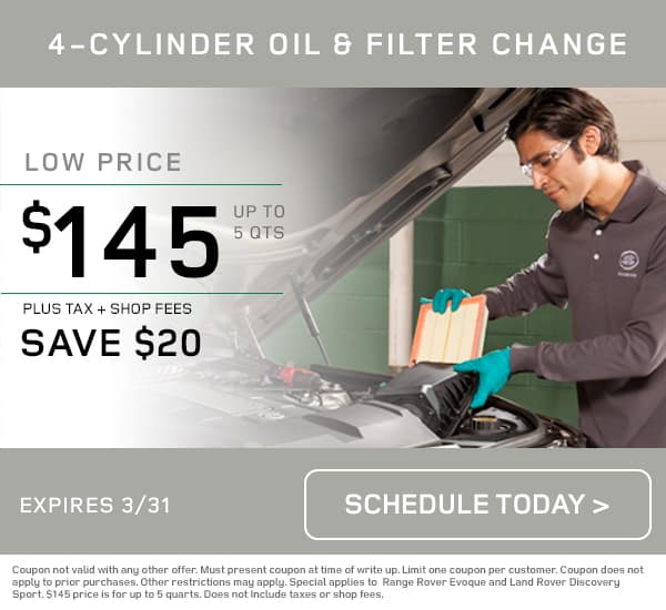 Land Rover Oil Change Special
