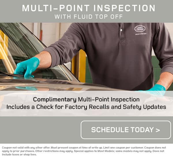 Land Rover Multi-Point Service Inspection