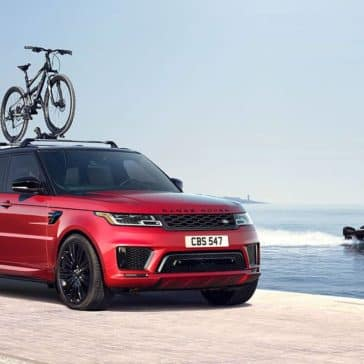 2020 Land Rover Range Rover Sport with Bike on Roof Rails