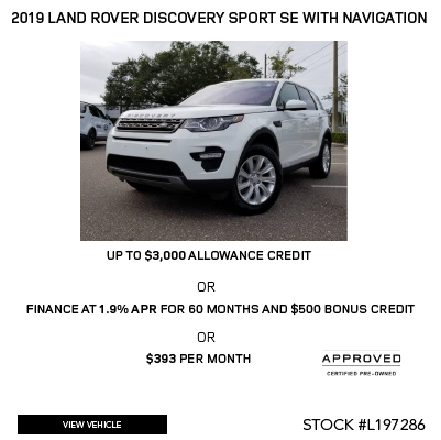 2019 Land Rover Discovery Sport SE With Navigation