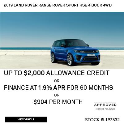 Certified Pre-Owned 2019 Land Rover Range Rover Sport HSE 4 Door 4WD