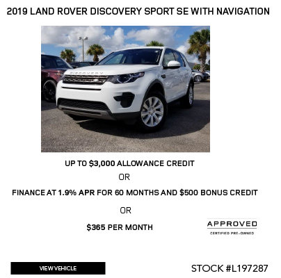 Certified Pre-Owned 2019 Land Rover Discovery Sport SE With Navigation