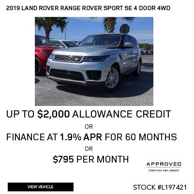 Certified Pre-Owned 2019 Land Rover Range Rover Sport SE 4 Door 4WD