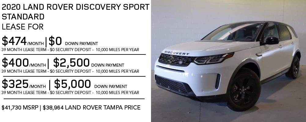 New 2020 Land Rover Discovery Sport Standard 4WD 4 Door
