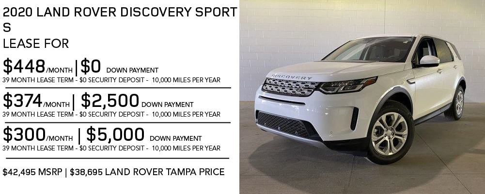 New 2020 Land Rover Discovery Sport S 4WD 4 Door