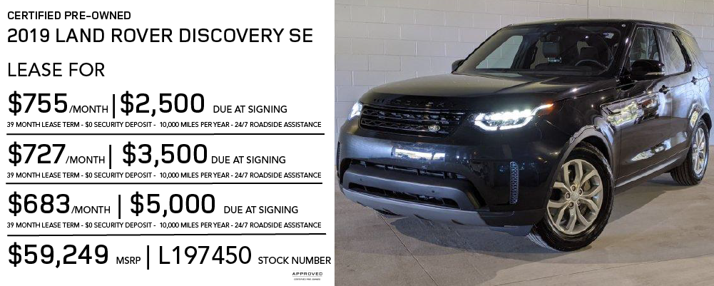 Certified Pre-Owned 2019 Land Rover Discovery SE V6 Supercharged SUV 4WD