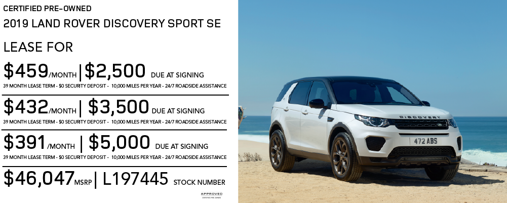Certified Pre-Owned 2019 Land Rover Discovery Sport SE 4WD With Navigation