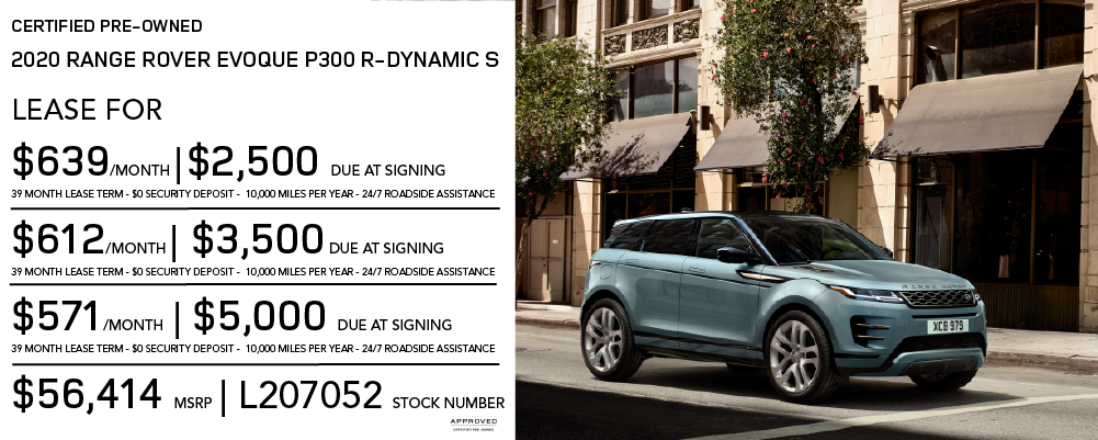 Certified Pre-Owned 2020 Land Rover Range Rover Evoque P300 R-Dynamic S 4 Door AWD