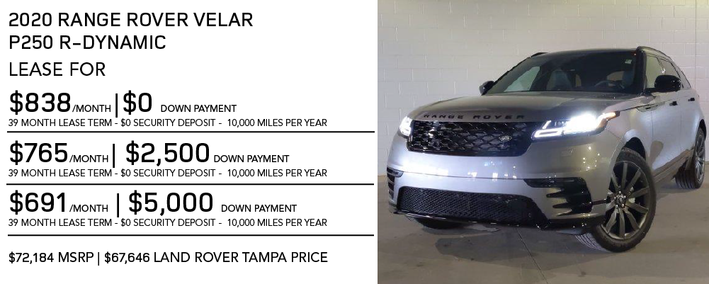 New 2020 Land Rover Range Rover Velar P250 R-Dynamic S 4 Door 4WD