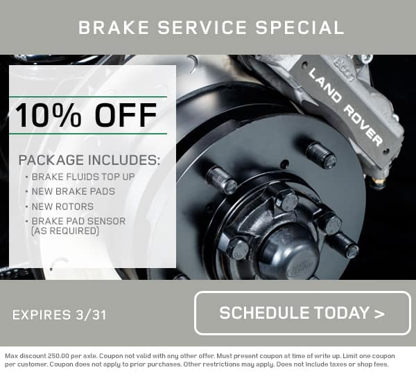 Land Rover Brake Service Special
