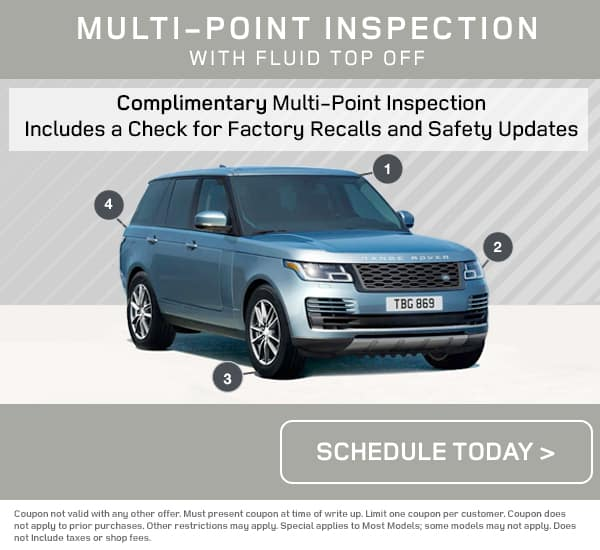 Land Rover Multi-Point Inspection