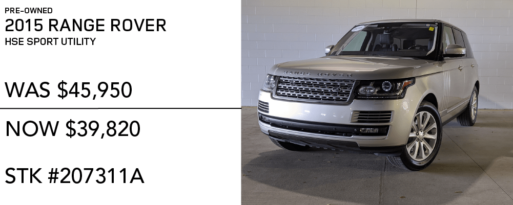 Pre-Owned 2015 Land Rover Range Rover 4WD 4dr HSE Sport Utility