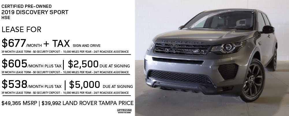 Certified Pre-Owned 2019 Land Rover Discovery Sport HSE 4WD With Navigation