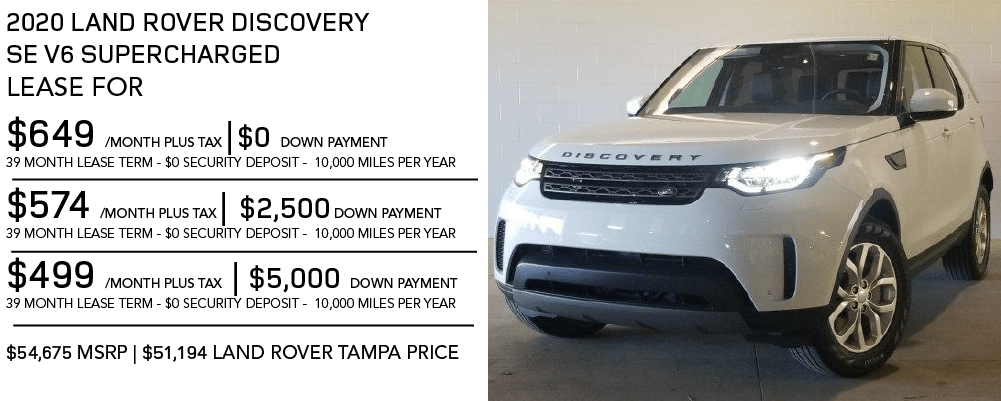 New 2020 Land Rover Discovery SE V6 Supercharged SUV 4WD