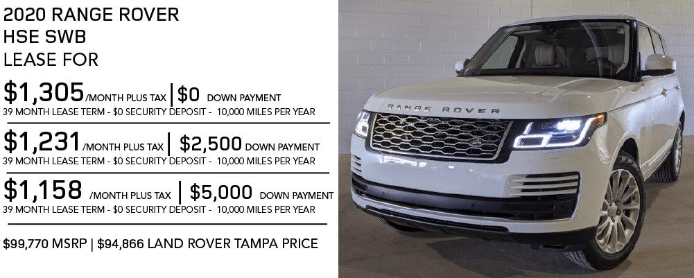 New 2020 Land Rover Range Rover HSE SWB 4 Door 4WD