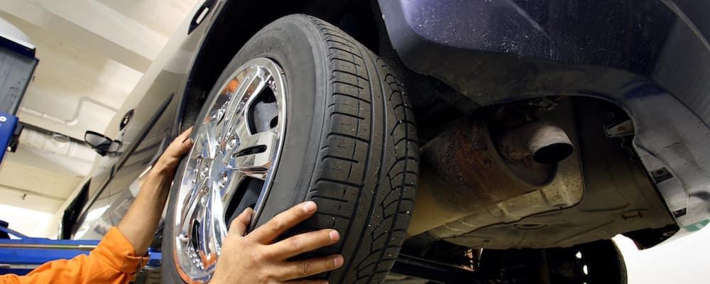Tire rotation on a vehicle
