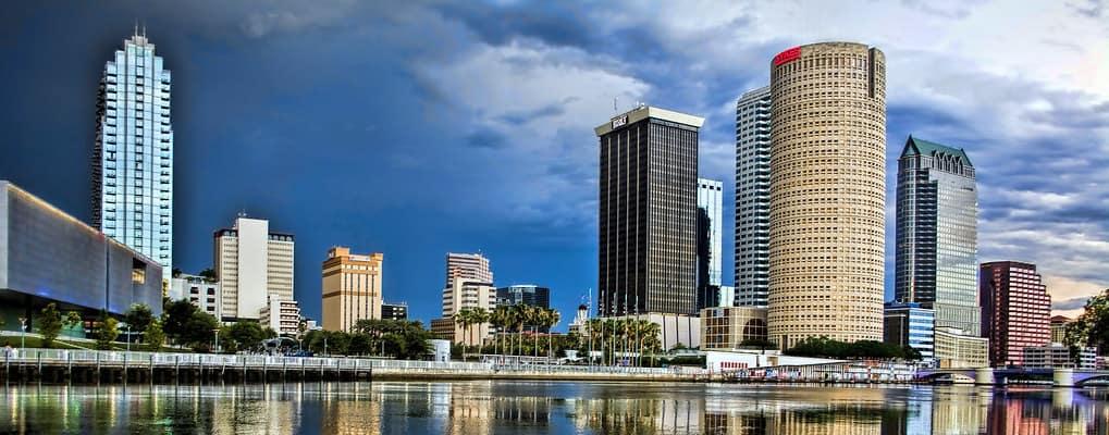 Tampa skyline during night