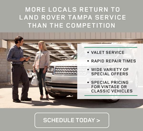 Land Rover Service Retention