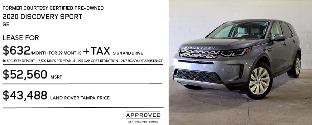 Certified Pre-Owned 2020 Land Rover Discovery Sport SE 4 Door 4WD
